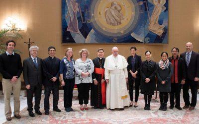 Diretoria do MCGC se reúne com o Papa Francisco